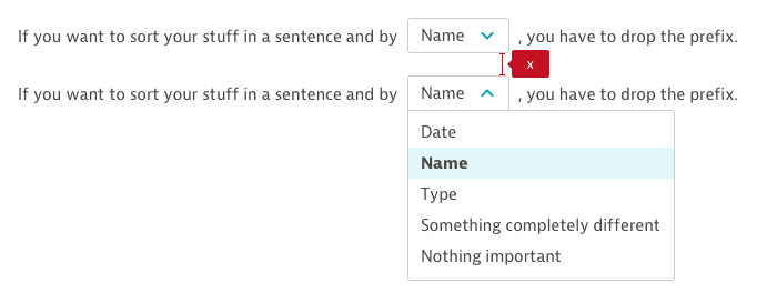 Select usage in a sentence